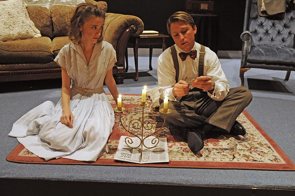 "Colleen Boylan & Travis Moore in ""The Glass Menagerie."""